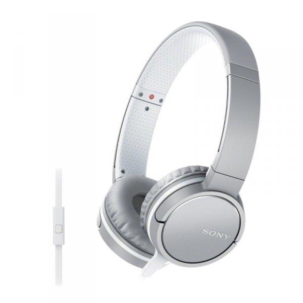 Sony MDR-ZX660AP (biały) -słuchawki (Pilot, Mikrofon)