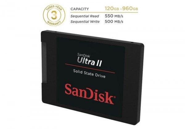 SanDisk SSD Ultra II       240GB SDSSDHII-240G-G25