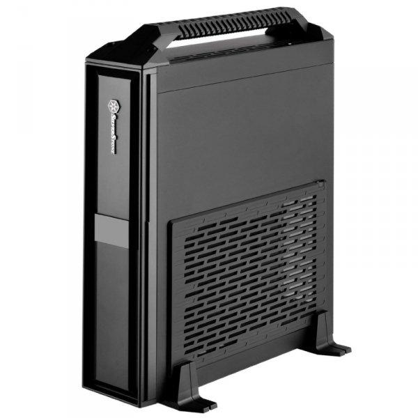 SilverStone SST-ML08B-H + Handle, Desktop czarny, mit Tragegriff
