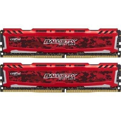 Ballistix Sport LT 16GB Kit DDR4 8GBx2 2400 MT/s DIMM 288pin red