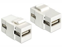 Delock Keystone Moduł USB 2.0 A-A blue/Bu