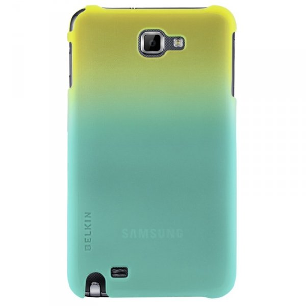 Etui Belkin Shield Micra Fade do Samsung Galaxy Note turkusowo-żółte