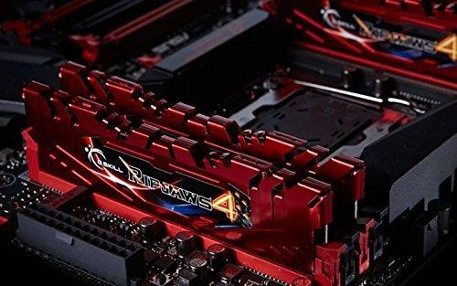 G.Skill 8GB DDR4-2666 Kit, czerwony F4-2666C15D-8GRR, Ripjaws 4