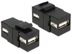 Delock Keystone Moduł USB 2.0 AA blue/Bu black