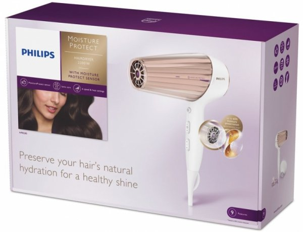 Philips HP 8280/00 Moisture Protect Suszarka z dyfuzorem biały