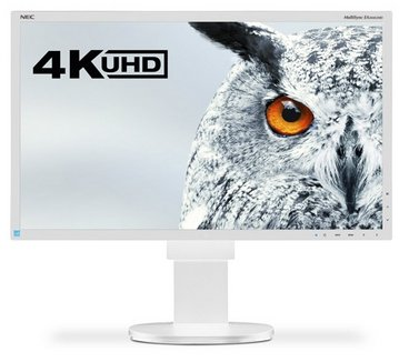 NEC MultiSync EA275UHD, biały, HDMI, DVI, DisplayPort, VGA, USB, Audio