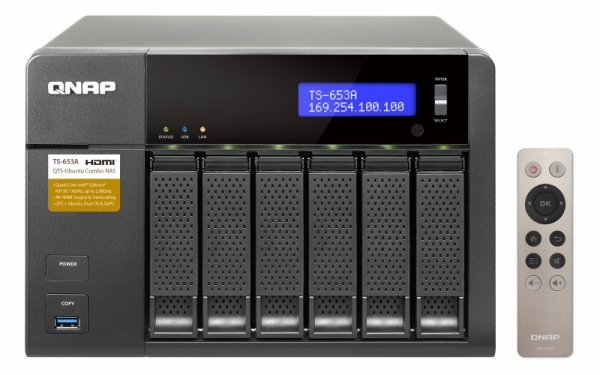 Qnap Turbo Station TS-653A-8G [0/6 HDD/SSD, 4x Gigabit-Lan, 4x USB]