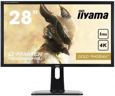 iiyama G-Master Gold Phoenix GB2888UHSU-B1, czarny, HDMI, DisplayPort, VGA, AMD Free-Sync