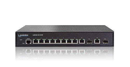 Lancom GS-2310P PoE/1000/MAN/ 8 - 8x PoE, max. 130W, 2x Combo-Ports