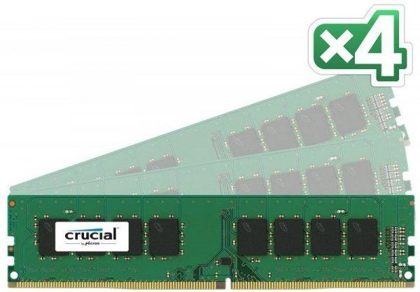 Crucial 64GB Kit DDR4 2133 MT/s 16GBx4 DIMM 288pin SR x8 unbuffe