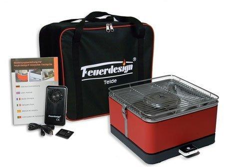 Feuerdesign Teide stołowy grill węglowy zielony