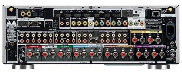 Marantz SR6010 srebrny/złoty- 9.2 AV-Receiver (185 W/Kanal, Dolby Atmos, DTS:X, HDCP 2.2, WiFi, Airplay, Bluetooth)