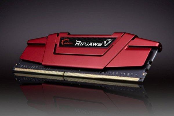 G.Skill 16 GB DDR4-3200 Kit, czerwony F4-3200C14D-16GVR, Ripjaws V