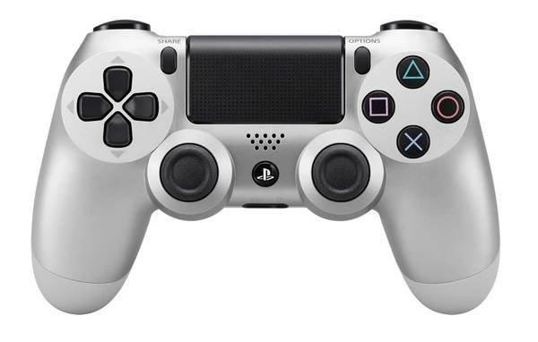 Sony DUALSHOCK 4 Wireless Controller, Gamepad srebrny, do PS4