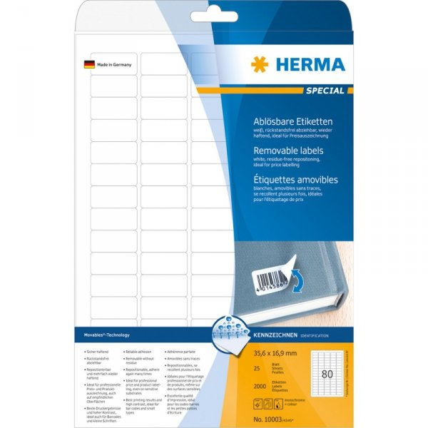 Herma Labels biały  35,6x16,9 mm 10003