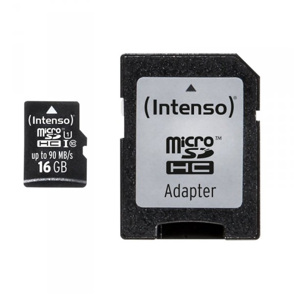 SD MicroSD Card 16GB Intenso SD-HC UHS-I Professional