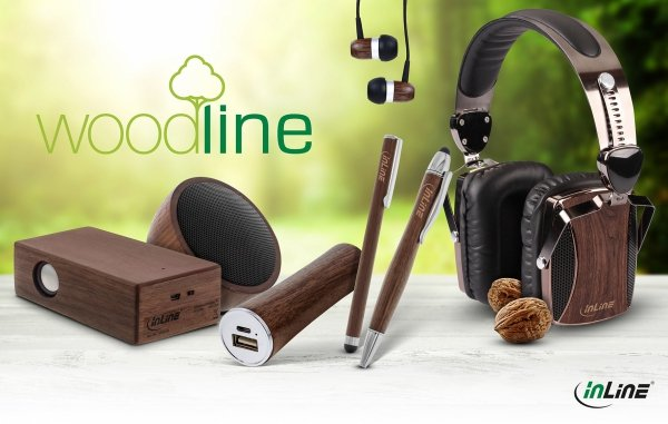 InLine® Woodline USB PowerBank 5.000mAh z diodą LED