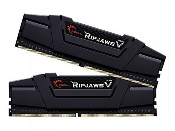 G.Skill 32 GB DDR4-3000 Kit, czarny, F4-3000C14D-32GVK, Ripjaws V