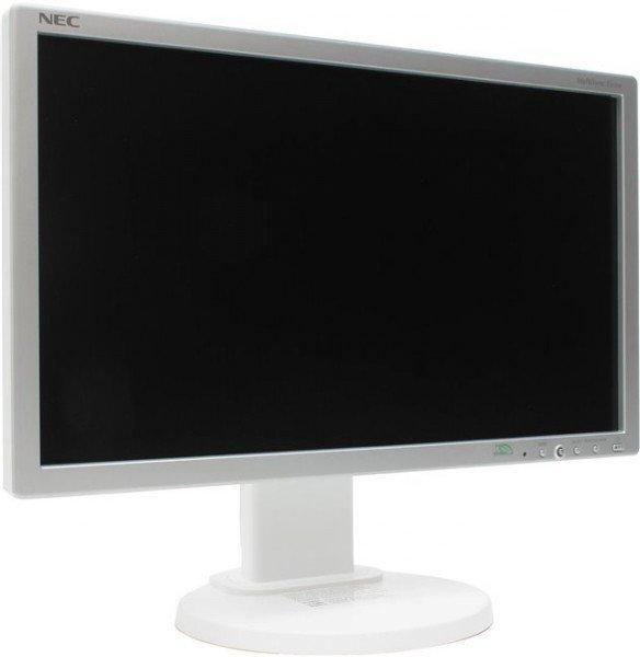 NEC MultiSync E233WM, biały, DVI, DisplayPort, VGA, Pivot