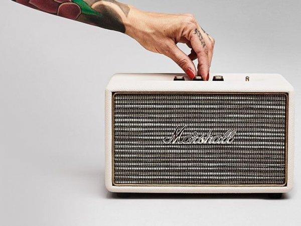 Marshall Acton (creme)  - aktywny głośnik stereo (Bluetooth V4.0, aptX, Line-In)