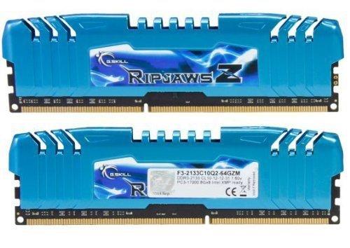 G.Skill 64 GB DDR3-2133 Octo-Kit, F3-2133C10Q2-64GZM, RipjawsZ-Serie