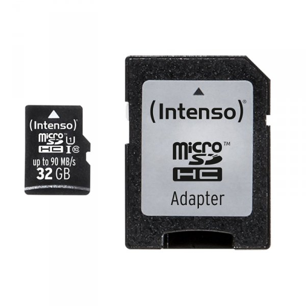 SD MicroSD Card 32GB Intenso SD-HC UHS-I Professional