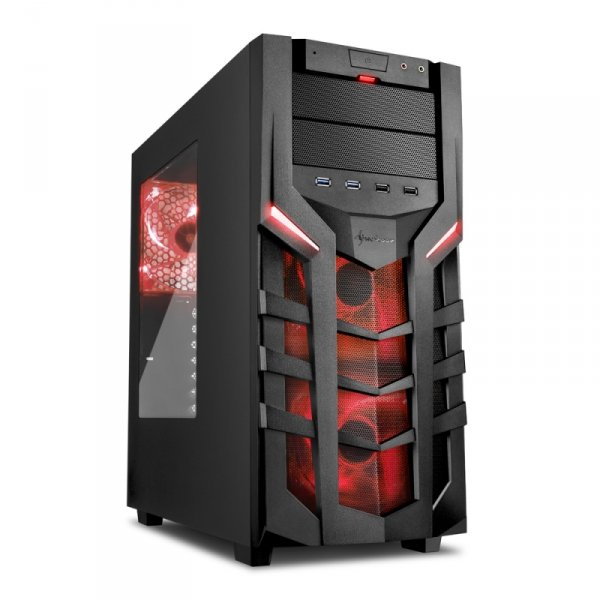 Sharkoon DG7000 red, Tower Window-Kit