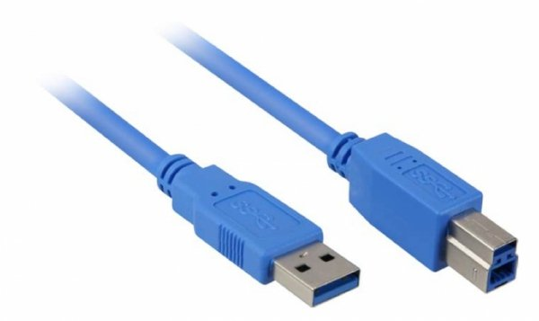 Sharkoon Kabel USB 3.0 wtyk A-wtyk B blue 1,0m