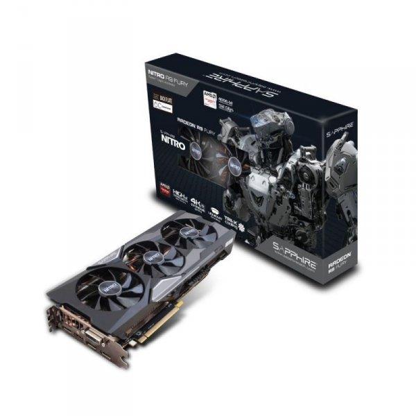 Sapphire Nitro R9 Fury 4G HBM OC+, HDMI, 3x DisplayPort, DVI-D