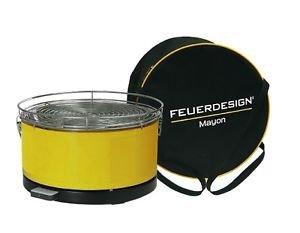 Feuerdesign Mayon stołowy grill węglowy żółty
