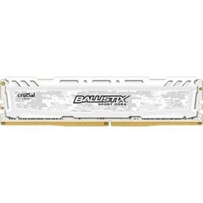 Crucial Ballistix Sport LT 8GB DDR4 2400 MT/s DIMM 288pin biały