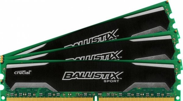 Crucial 32GB DDR3-1600 Quad-Kit, BLS4CP8G3D1609DS1S00,BX Sport