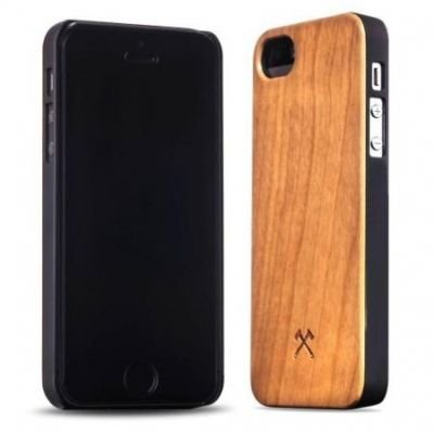 Woodcessories EcoCase Classic iPhone 5 5s SE cherry+black
