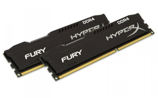 Kingston HyperX 8GB DDR4-2400 Kit, czarny, HX424C15FBK2/8, Fury Black