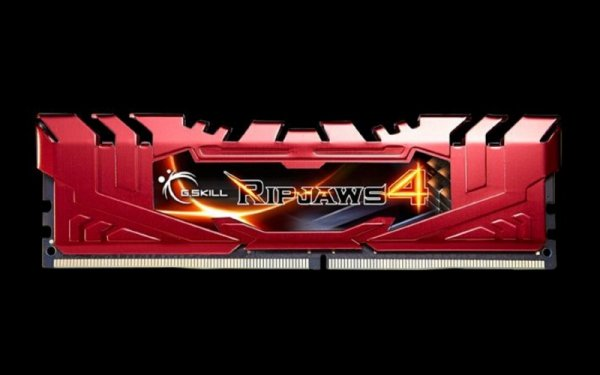 G.Skill 16GB DDR4-3300 Quad-Kit, czerwony F4-3300C16Q-16GRRD, Ripjaws 4