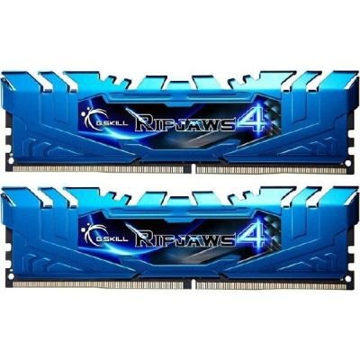 G.Skill 16GB DDR4-3000 Kit, niebieski F4-3000C15D-16GRBB, Ripjaws 4