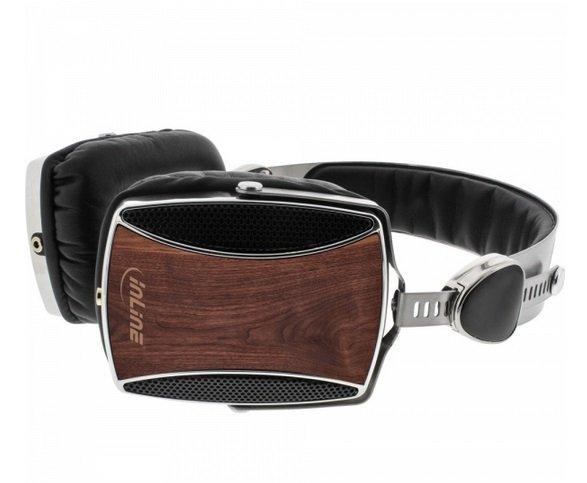 InLine®  Woodline on ear zestaw słuchawkowy