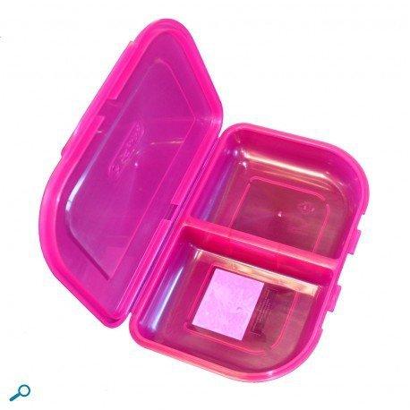 Herlitz dwukomorowa śniadaniówka różowa