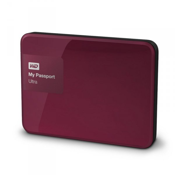 WD MyPassport Ultra 3TB wiśniowy dysk zewnętrzny USB 3.0