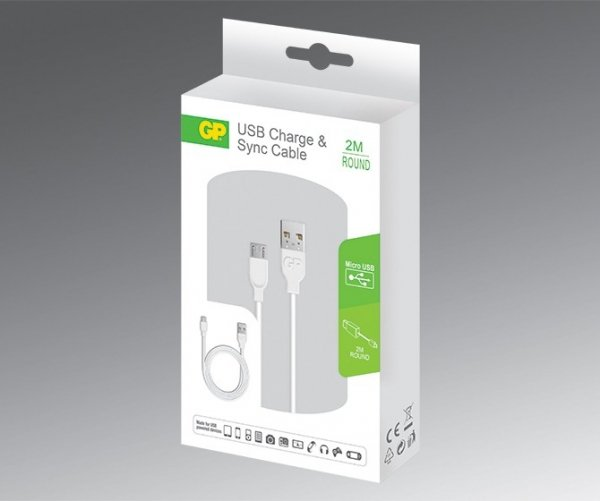 GP CB22 Charge & Sync Cable 2 m Micro USB for Samsung Galaxy