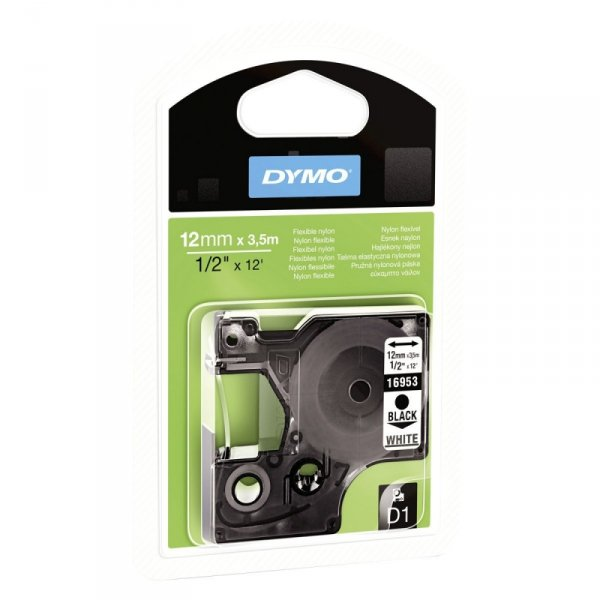 Dymo Taśma D1 12MM black/WH