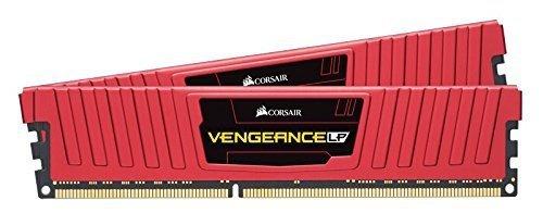 Corsair  8 GB DDR4-2400 Kit, czerwony CMK8GX4M2A2400C16R, Vengeance LPX