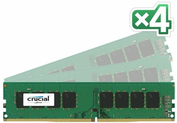 Crucial 64GB Kit DDR4 2133 MT/s 16GBx4 DIMM 288pin SR x8 unbuffe