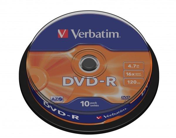 Verbatim DVD-R 4,7 GB 16x, 10 szt.