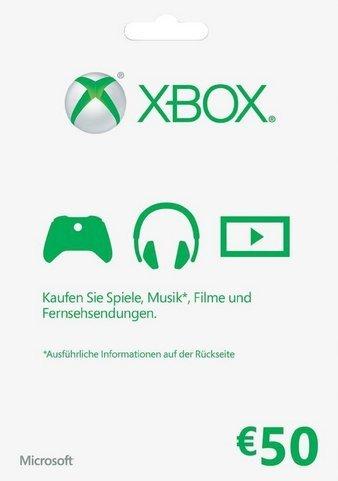 Microsoft  XBOX LIVE 50 Euro Karta XB3/XBO
