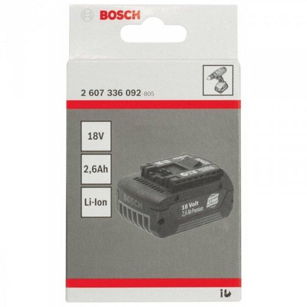Bosch Akku 18V 2,6Ah Li-Ion blau