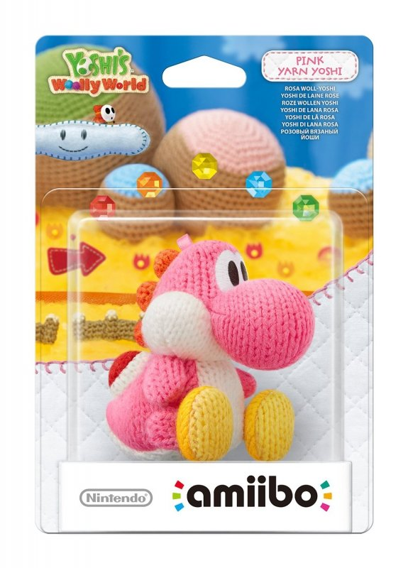 Nintendo amiibo Woolly World Pink Yarn Yoshi