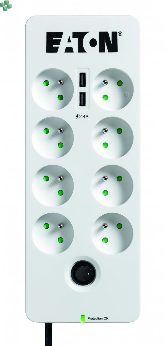 Eaton Protection Box 8 USB Tel@ FR (2 x USB, zabezp. tel.)