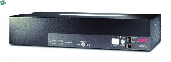 AP7724 Przełącznik źródła zasilania do montażu w szafie Rack ATS, 2U 230V, 32A, IEC309-32A In, (16)C13, (2)C19 Out