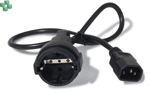 AP9880 Przewód zasilania - przejściówka C14 na CEE 7/7 Schuko